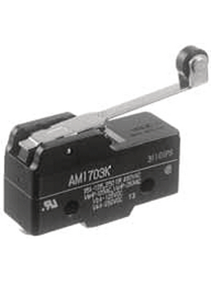 Panasonic - AM1703F - Micro switch 3 AAC Roller lever N/A 1 change-over (CO), AM1703F, Panasonic