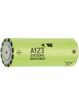 A123 Systems - ANR26650M1.2500+LFZ - LiFePO4-Battery 3.3 V 2500 mAh, ANR26650M1.2500+LFZ, A123 Systems