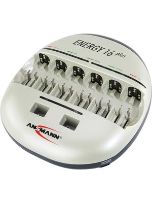 Ansmann - ENERGY 16 PLUS - Charger NiMH/NiCd 6 x D / 6 x C / 12 x AAA / 12 x AA / 2 x 9V NiMH+NiCd, ENERGY 16 PLUS, Ansmann