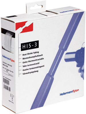 HellermannTyton - HIS-3-18/6 PO-X CL 4 - Heat-shrink tubing spool box transparent 18.0 mmx6.0 mmx4 m - 308-31803, HIS-3-18/6 PO-X CL 4, HellermannTyton