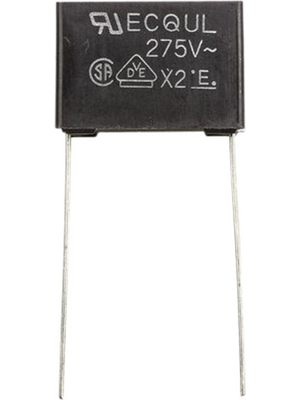 Panasonic Automotive & Industrial Systems - ECQU2A104KL - Capacitor 100 nF 275 VAC, ECQU2A104KL, Panasonic Automotive & Industrial Systems