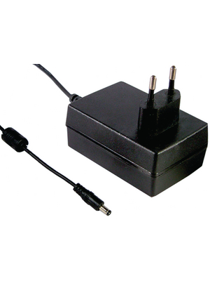Mean Well - GS18E12-P1J - Plug-in power supply 12 VDC/1.5 A, GS18E12-P1J, Mean Well