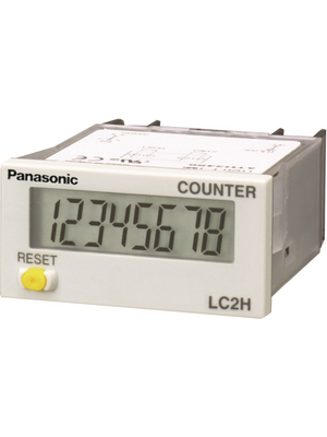 Panasonic - LC2HFE2KKJ - Digital counter 8-digit LCD 2 kHz Non-voltage, NPN -, LC2HFE2KKJ, Panasonic