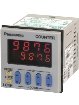 Panasonic - LC4HR424J - Counter 4-digit LED 30 Hz / 5 kHz Contact 12...24 VDC, LC4HR424J, Panasonic