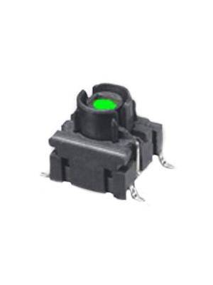 MEC - 4FSH922 - Board switch LED, green 24 VDC 50 mA Green, 25 mA 2.2 V SMD, 4FSH922, MEC