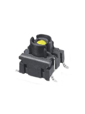 MEC - 4FSH942 - Board switch LED, yellow 24 VDC 50 mA Yellow 25 mA 2.0 V SMD, 4FSH942, MEC