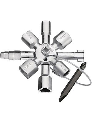 Knipex - 00 11 01 - Universal key 8 arm, KNIPEX TwinKey, 00 11 01, Knipex