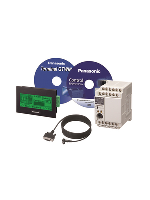 Panasonic - KITGT02FPXC14R - PLC/HMI Starter Kit, 8 DI, 8 HS, 6 RO, KITGT02FPXC14R, Panasonic