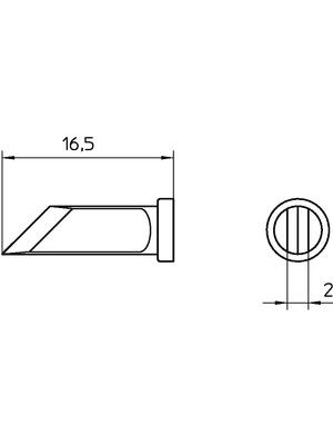 Weller - LT KNSL - Soldering tip Knife 2 mm, LT KNSL, Weller