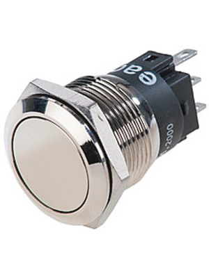 EAO - 82-5151.2000 - Pushbutton Switch stainless steel 19 mm 250 VAC 3 A 1 change-over (CO), 82-5151.2000, EAO