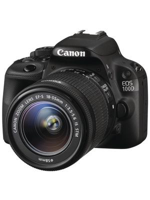 Canon Inc - 8576B022 - SLR camera EOS 100D + EF-S 18-55 mm IS STM, black, 18 MegaPixel, 8576B022, Canon Inc
