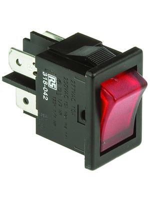 Arcolectric - H8553VBNAF - Rocker switch 2P 10 A 250 VAC, H8553VBNAF, Arcolectric
