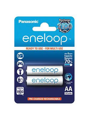 Panasonic - ENELOOP 2XAA - NiMH rechargeable battery 1.2 V 1900 mAh PU=Pack of 2 pieces, ENELOOP 2XAA, Panasonic
