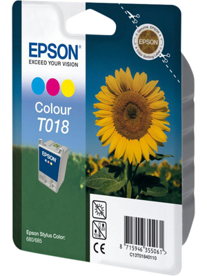 Epson - C13T018401 - Ink T018 multicoloured, C13T018401, Epson