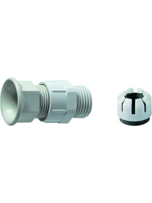 Jacob - 28.713 PA - Cable gland PG13.5 10...12 mm x 9 mm grey / RAL 7035 IP 65, 28.713 PA, Jacob