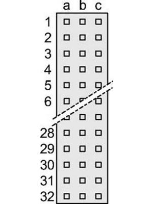 Pentair Schroff - 69001-976 - Female connector N/A 64 a + c, 69001-976, Pentair Schroff