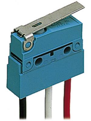 Panasonic - ABS161240J - Micro switch 2 AAC Flat lever N/A 1 change-over (CO), ABS161240J, Panasonic