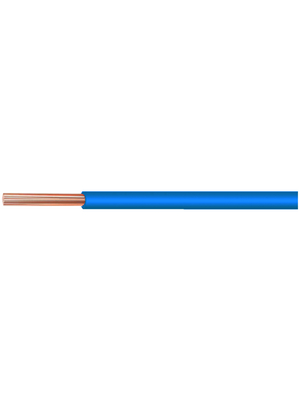 Kabeltronik - UL 11029 AWG20-7 BLUE - Stranded wire, Halogen-Free / Flame-Retardant / Oil-Proof, 0.32 mm2, blue Stranded tin-plated copper wire mPPE, UL 11029 AWG20-7 BLUE, Kabeltronik