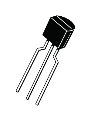 ON Semiconductor - BC547BZL1G - Transistor TO-92 BL NPN 45 V 100 mA, BC547BZL1G, ON Semiconductor