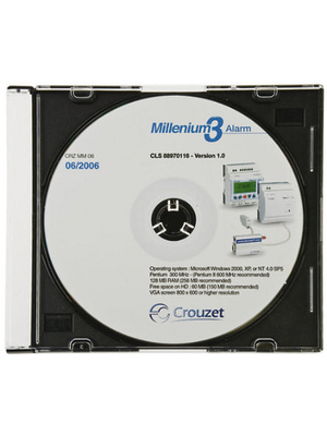 Crouzet - 88.970.116 - Alarm Software for Millenium 3, 88.970.116, Crouzet